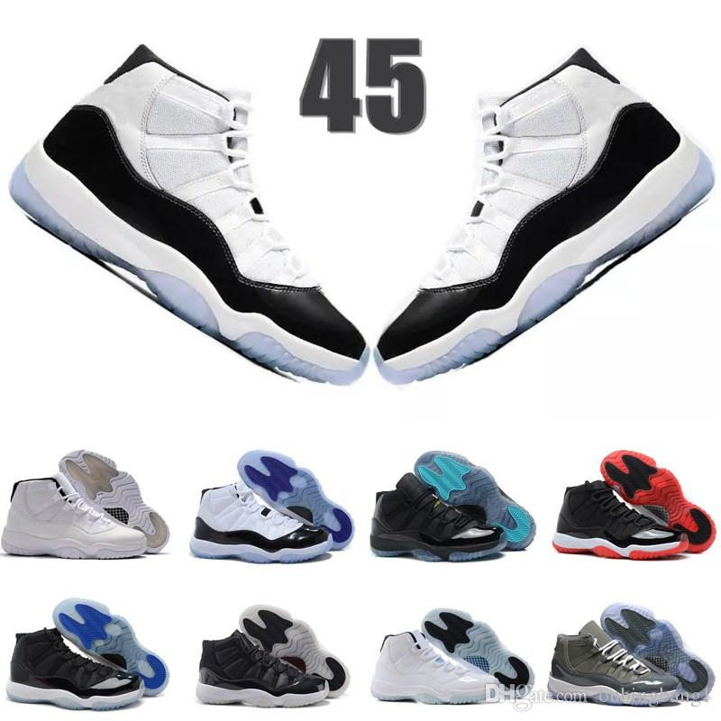 74408426eb58 Compre Platinum Tint 11 Gym Red Chicago 11s Prom Night Concord 45 23 Space  Jam Legend Gamma Blue Midnight Navy Hombres Mujeres Zapatos De Baloncesto  XI Bred ...