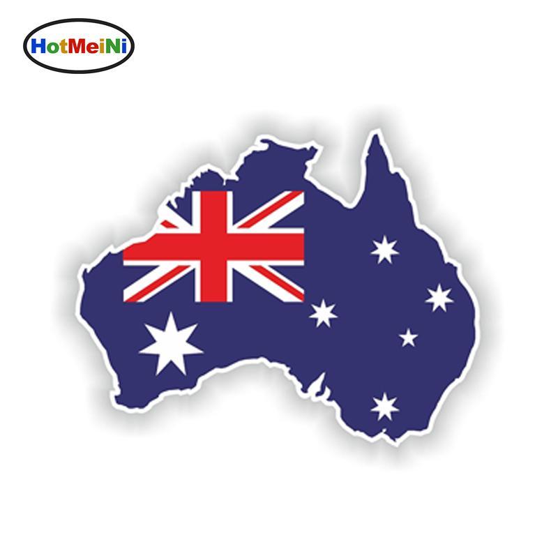 Carte Australie Drapeau.Autocollant De Voiture En Gros Australie Silhouette Fenetre Pare Chocs Impermeable Decal Carte Drapeau De Style De Stylo Corps Stickers Accessoires
