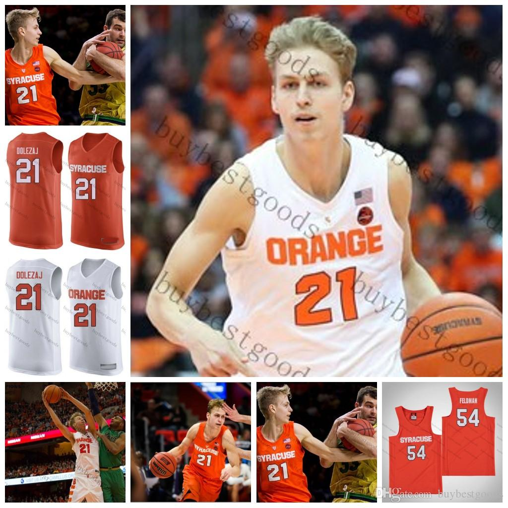 promo code c7744 ab32b Custom NCAA Syracuse Orange Washington 21 Marek Dolezaj 13 Paschal Chukwu  33 Elijah Hughes Buddy Boeheim Any Name Number Basketball Jersey