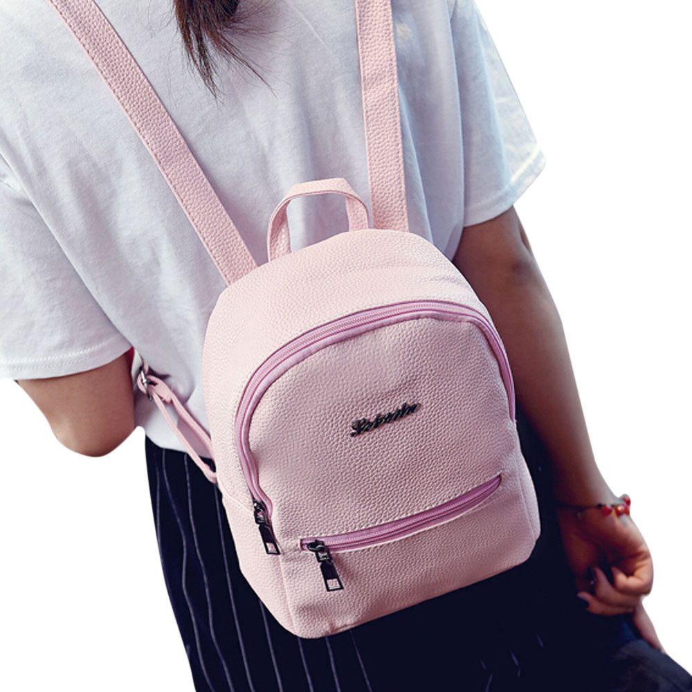 d81aa2a4459699 2019 Top Girls Leather School Bag Travel Backpack Satchel Women Shoulder  Rucksack Women Backpack Dropshipping Backpacks Cheap Backpacks 2019 Top  Girls ...