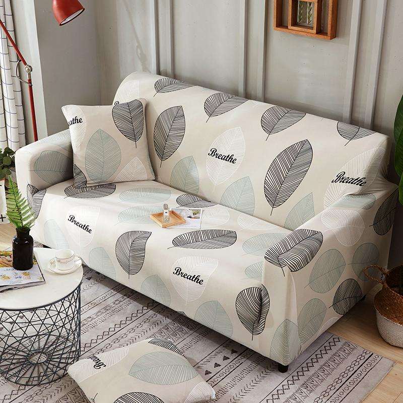 Sensational Pastoral Style Large Leaves Printed Armrest Slipcovers All Inclusive Sofa Cover Elastic Sectional Sofa Cover1 2 3 4 Seater Download Free Architecture Designs Rallybritishbridgeorg