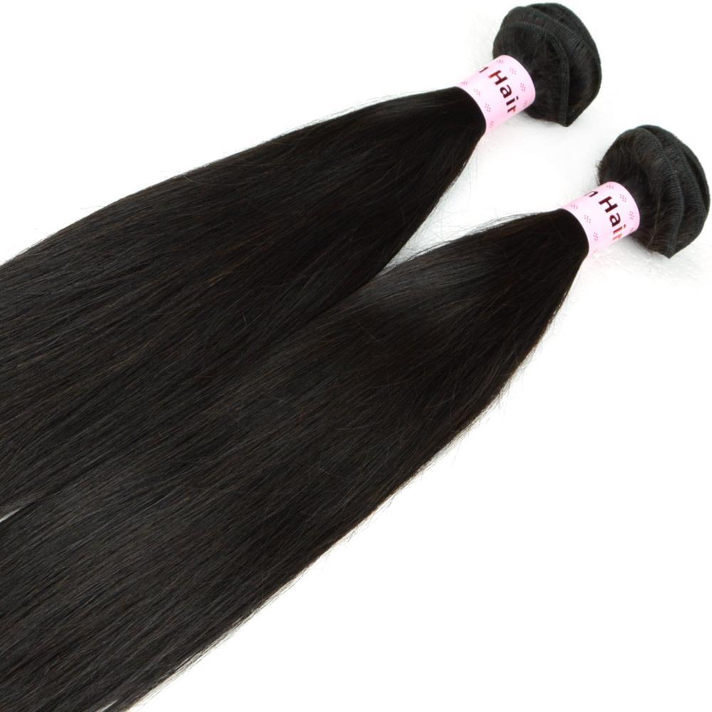 8A 처녀 브라질 머리 엮어 번들 부드러운 스트레이트 더블 씨실 처리되지 않은 인간의 머리 확장 자연 블랙 8 인치 30 인치 3 개 많은