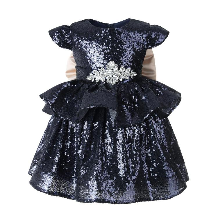 88b4db09 2019 Infant Baby Girl Gowns Sequin Tulle Dress For Girl Party Princess Baby  Clothes For 1 Years Birthday Baptism Christening Dresses From  Ouronlinelife, ...