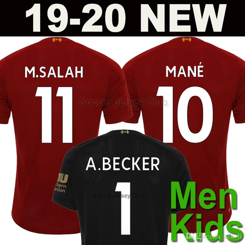 5f15038b8 19 20 LFC Camiseta De Fútbol Del Liverpool Blackout Limitado SALAH MANE  FIRMINO M.SALAH 2019 2020 Football Shirts VIRGIL Portero BECKER KEITA M  Niños ...