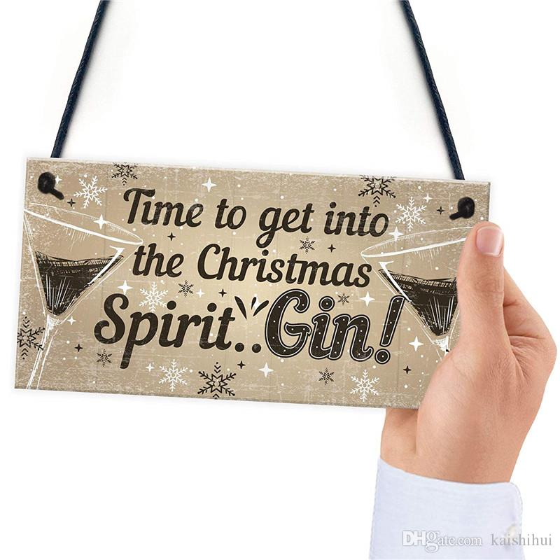 Bar Sign For Home Bar Hanging Door Pub Plaque Gin Drinkers Gifts