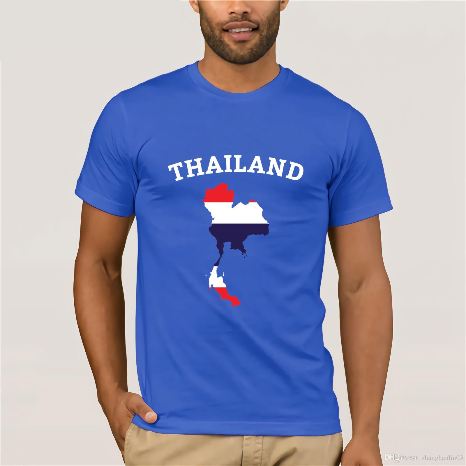 Compre Tailândia Camisa Mapa Da Bandeira Tailandesa T Shirt Dos Miúdos Das  Crianças Dos Homens De Phuket T Shirt Vestido De Zhanghanlin03 c2d5c8839fb2c