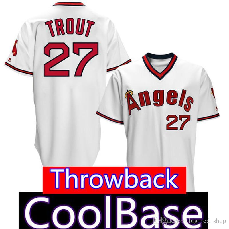 46a9d370bc7 2019 Angels 27 Mike Trout 17 Shohei Ohtani Jersey Los Angeles Mens Angels  Majestic Alternate Scarlet Flex Base CoolBase From Big red shop