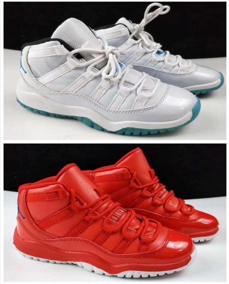 super popular 535fe b02a4 Acheter Nouveau 11 Low Space Jam Enfants Sports Basketball Chaussures GS  Enfants Héritier En Daim Marron Race 11s Sneakers De  35.54 Du  Sports shoes92 ...