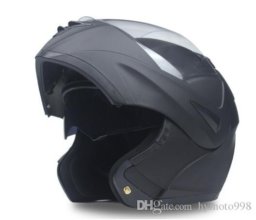2019 New Flip Up Motorcycle Helmet motorcycle double lens full face helmet With Inner Sun Visor DOT approved cross helmet Q