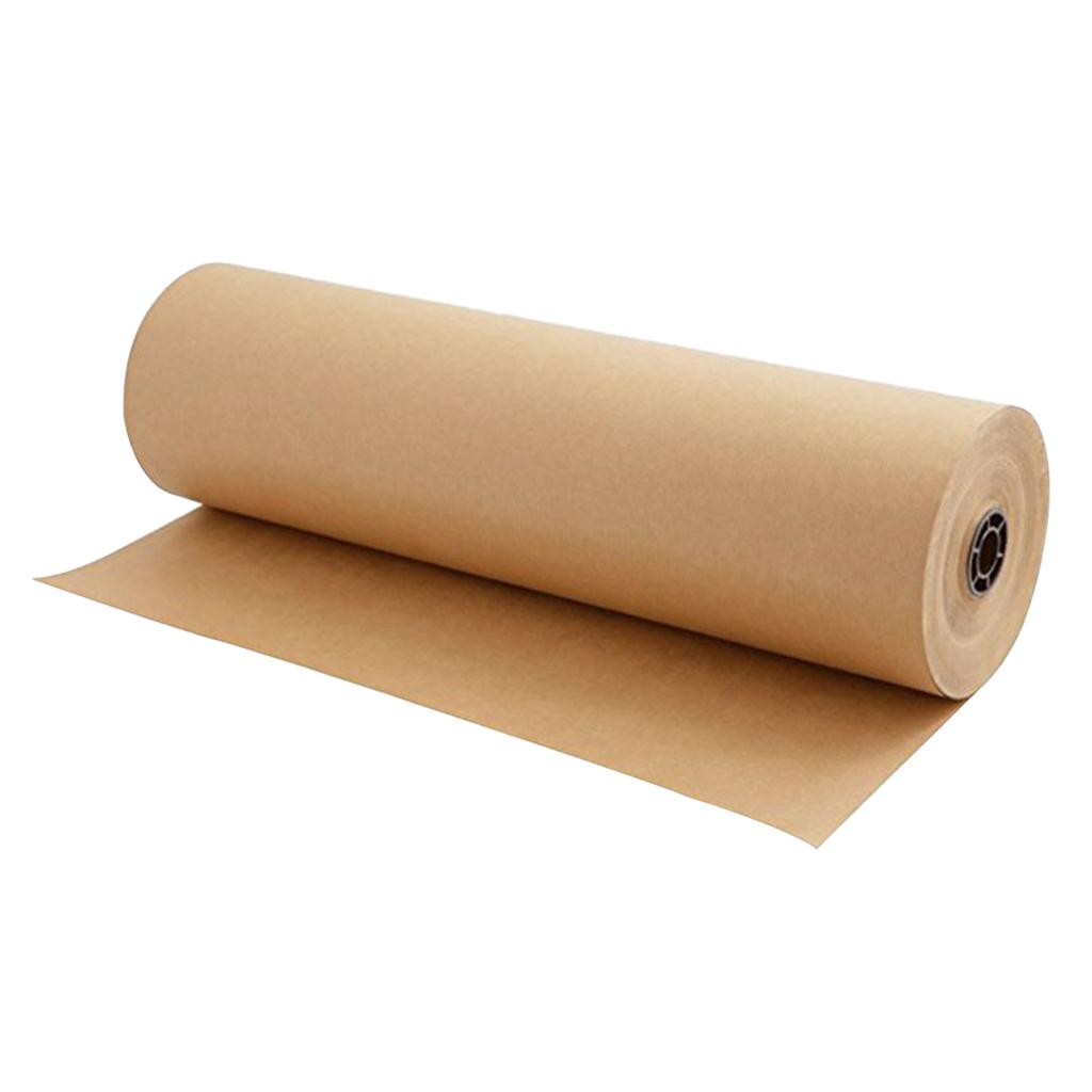 1 Roll of 30 Meters Kraft Wrapping Paper Roll - Wedding Birthday Party Gift Wrapping, Arts and Crafts, Parcel Packing, Shipping