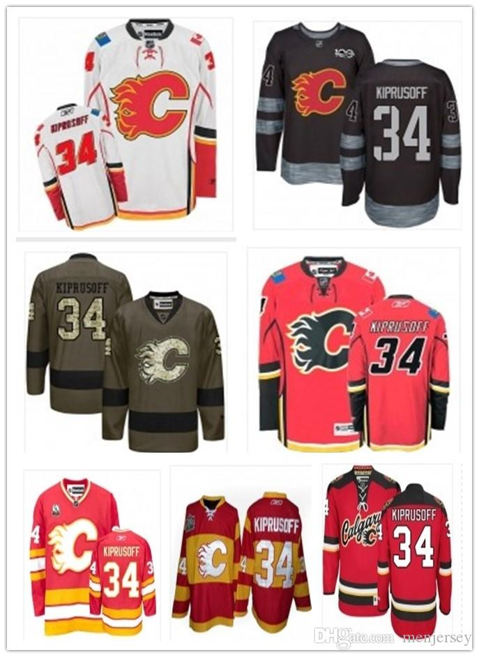 timeless design 753dd 54d35 2019 Hockey Jerseys Calgary Flames men/women/youth best 34 Miikka Kiprusoff  Jersey custom name and number free ship baseball wear