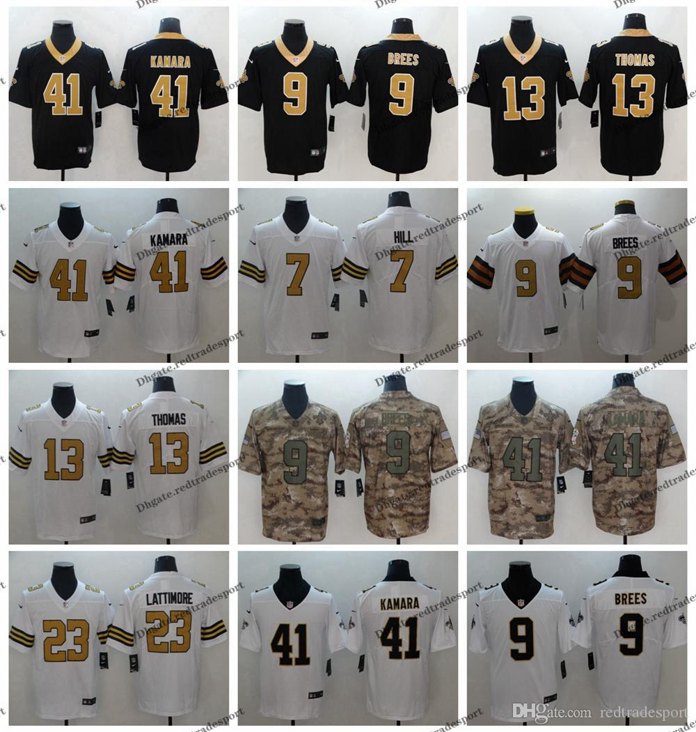 af9fe20882e 2019 2019 Camo Salute To Service New Orleans 9 Saints Drew Brees Football  Jerseys 41 Alvin Kamara 13 Michael Thomas 23 Marshon Lattimore 7 Hill From  ...