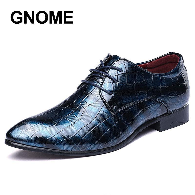 75a2f332ebd Gnome Checkered Mixed Colors Formal Leather Luxury Groom Wedding Men ...