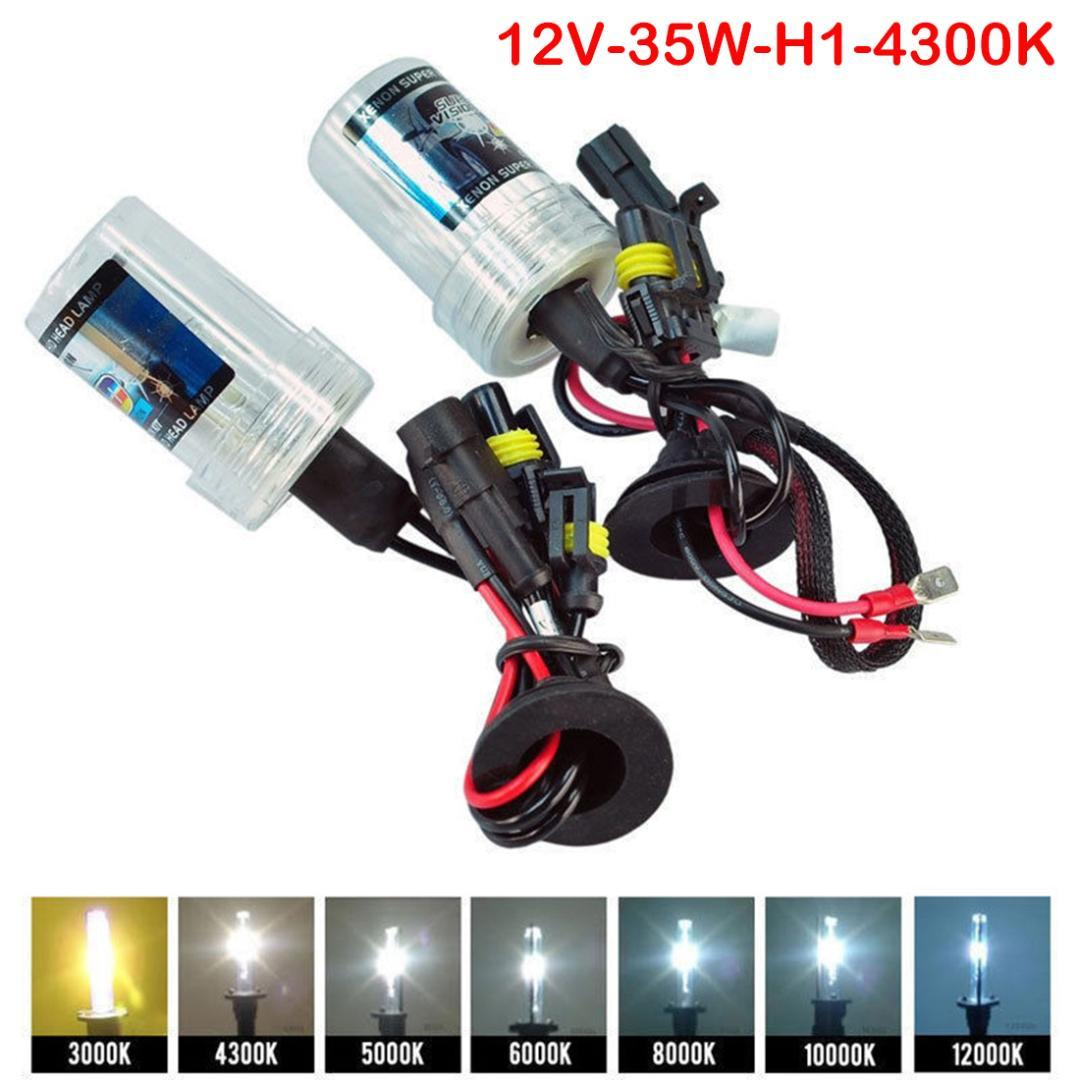 H1 5000k 35W HID Xenon Replacement 2  Bulb for Headlight Head lamps Light White
