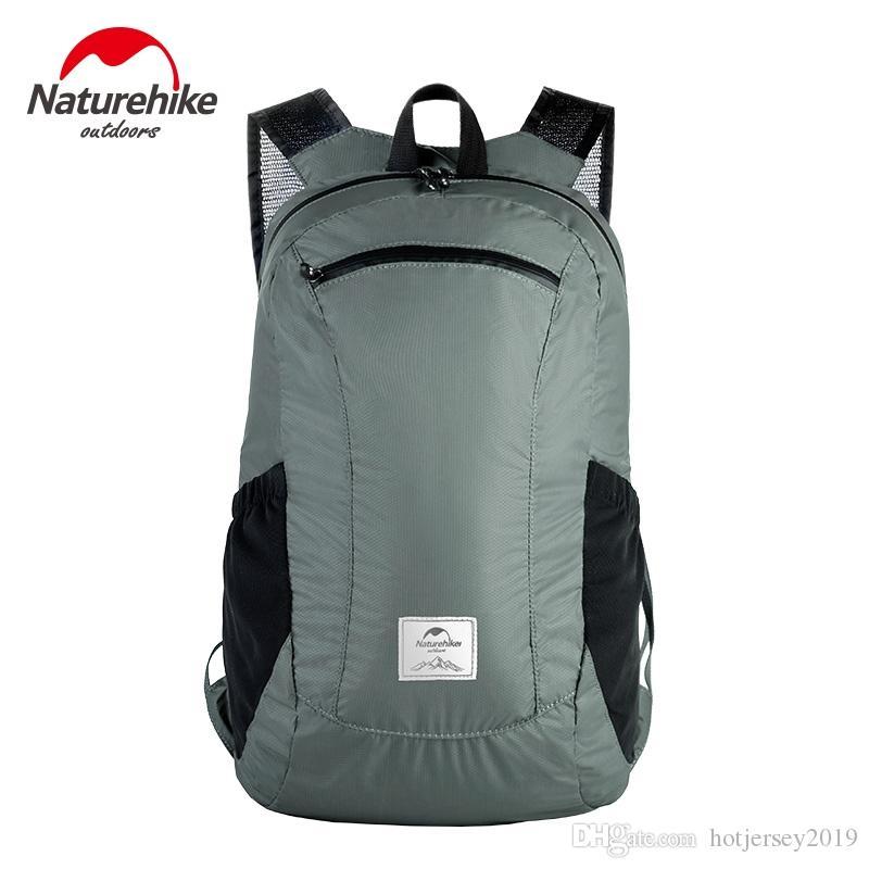 c5518c4508b7 2019 Naturehike Folding Waterproof Bag Ultralight Unisex Shoulder Straps  Outdoor Traveling Climbing Sport Foldable Backpack  288243 From  Hotjersey2019