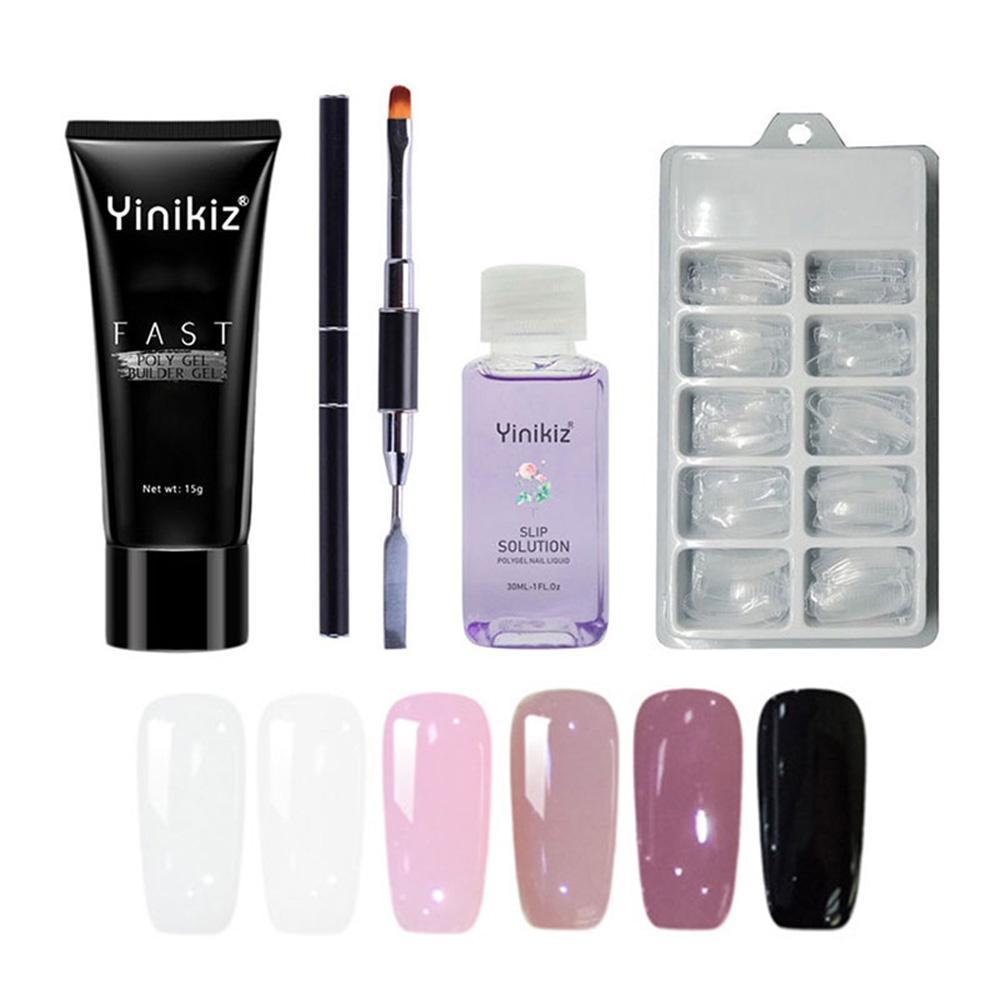 Nail Art Home Decor Poly Gel Set UV Acryl Builder Polygel Fast Dry Nail Art  Tools Pro Nails Tools Pusher Dead Skin gel polish
