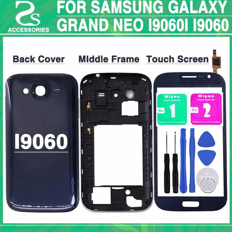premium selection d422c b5c03 New i9060 Full Housing Cover For Samsung Galaxy Grand Neo Plus i9060i i9060  Battery Cover+Middle Frame+Touch Screen +