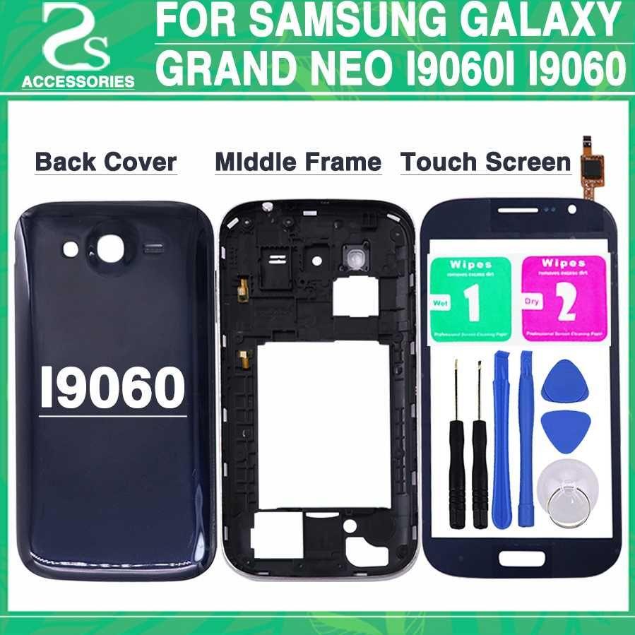 8c7d340eb4e Carcasa Movil Personalizada Nuevo I9060 Tapa De Carcasa Completa Para Samsung  Galaxy Grand Neo Plus I9060i I9060 Tapa De Batería + Marco Intermedio + ...