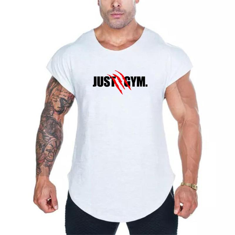 d66d0ddc Muscleguys Clothing Fitness Tank Top Men Cotton Just Gyms Sleeveless Shirt  Bodybuilding Vest Sporting Tracksuits Muscle Clothes Biker T Shirts Make  Your Own ...