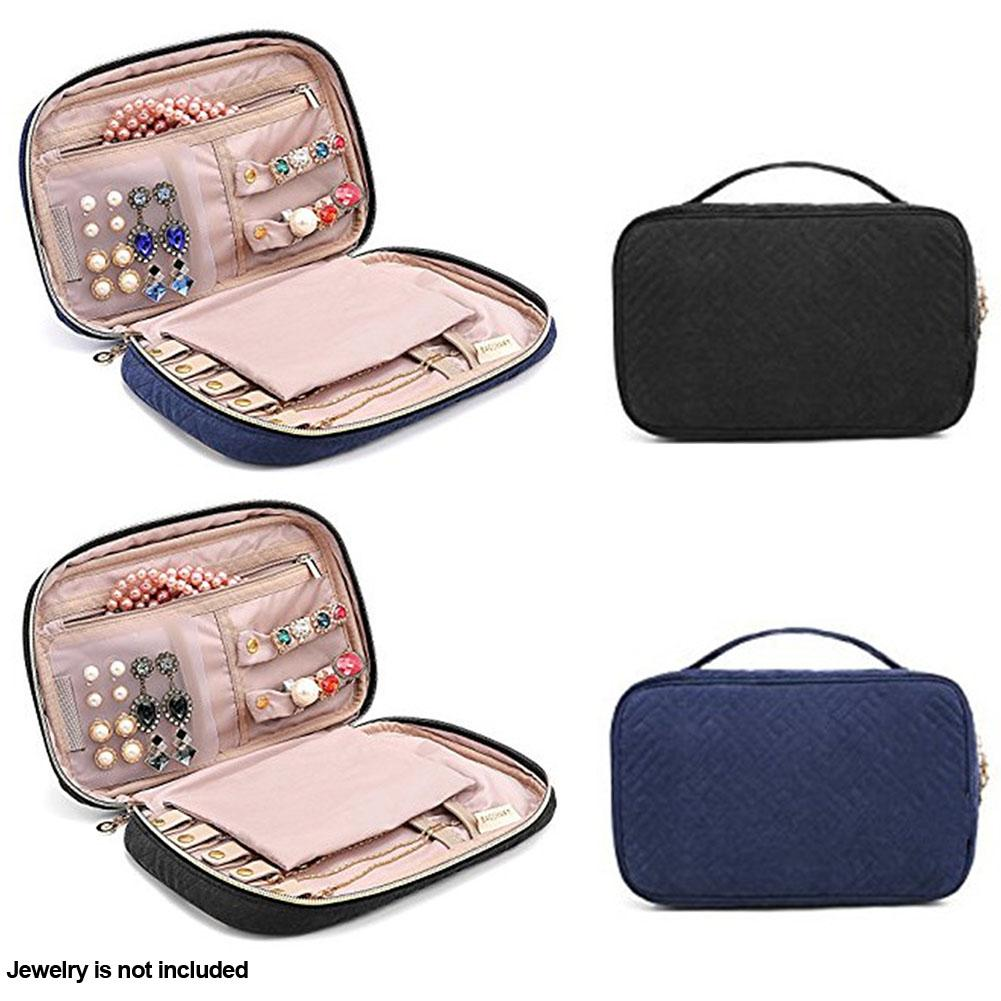 Women Velvet Travel Portable Jewelry Case Large Capacity Organizer Bag Fashion