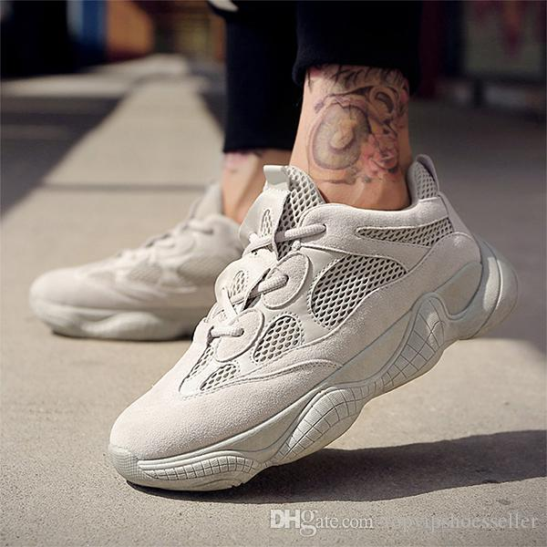 newest f1199 d4e25 Kanye West 500 Desert Blush 500s Salt Super Moon Yellow Utility Black mens  running shoes for men women sport sneakers designer Eur 36-45