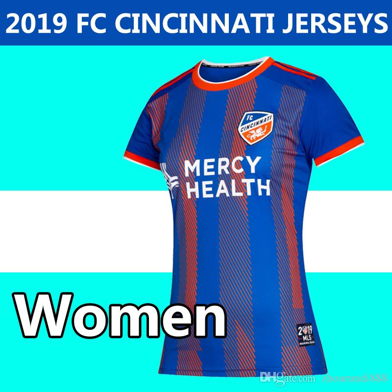 62d431630 2019 Women FC Cincinnati Home Soccer Jerseys MLS Jerseys 2019 2020 Adult  GARZA BERTONE ADI A.CRUZ Feminine Football Shirt Running Jerseys UK 2019  From ...