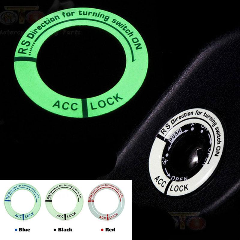 213a1d580 Compre Auto Brilho Anel Chave Decalque Buraco Adesivo Decoração Do Carro  Durável Motocicleta Car Styling Lumunous Interruptor De Ignição Capa De  Paping