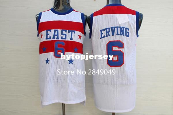 the best attitude bc27e 1fae7 #6 Julius Erving All Star Top Basketball Jersey XS-XXL vest Jerseys NCAA