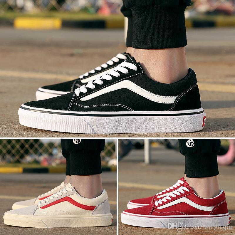 880431dea995a8 2019 2019 Original Vans Old Skool Low Top CLASSICS Unisex MEN S   WOMEN S  Shoes Sports Weight Lifting Shoes Sneakers From Rongfaqiu