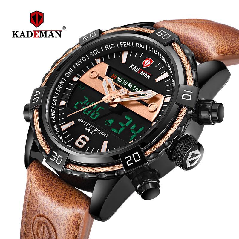 446f0c933896 Compre KADEMAN Hombres Reloj Deportivo Reloj De Pulsera De Doble Pantalla  TOP Marca LED Reloj Digital Ejército Hombre Reloj Relogio Masculino A   31.63 Del ...
