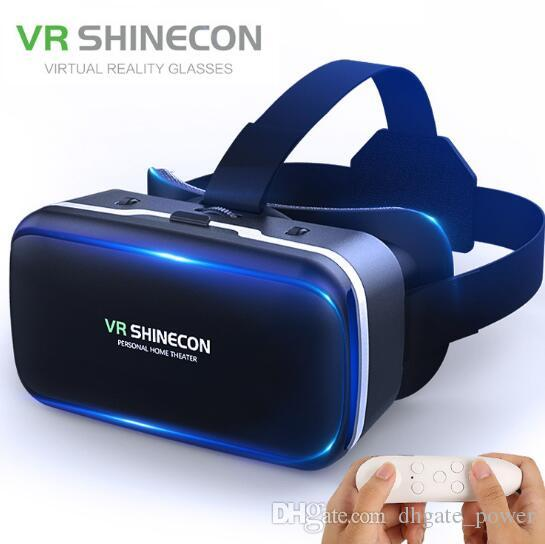 ca28eb00de93 2019 Authentic Shinecon 6.0 Pro VR Headset Stereo Virtual Reality  Smartphone 3D Glasses Google BOX VR Headset With Remote Controller For  Android From ...