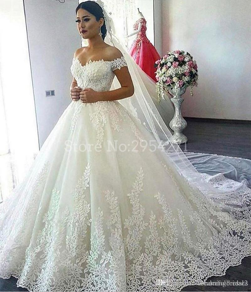 compre arabia saudita vestidos de novia 2017 una línea de novia