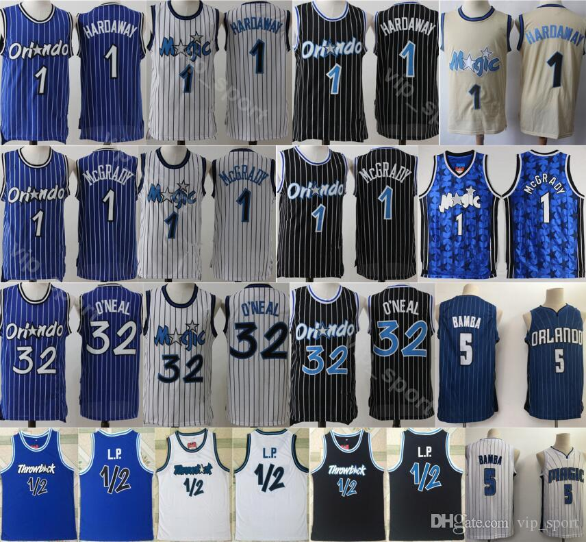 purchase cheap 0168c 34986 Orlando Basketball Penny Hardaway Jersey 1 1/2 LP Penny Anfernee Hardaway  Tracy McGrady 1 Mohamed Bamba 5 Uniform Shaquille ONeal 32