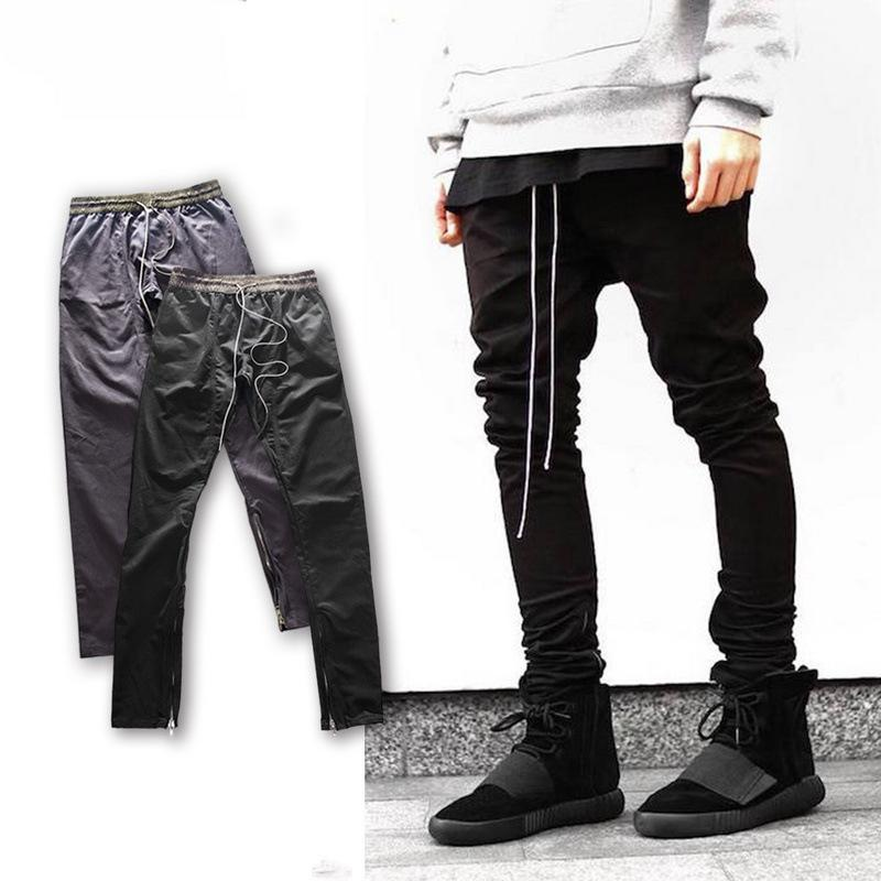 Dear2019 Hop Hip Hip-hop Kan Yefeng Kanye Stage Bigban Boost Self-cultivation Fog Pulling Rope Zipper Pants