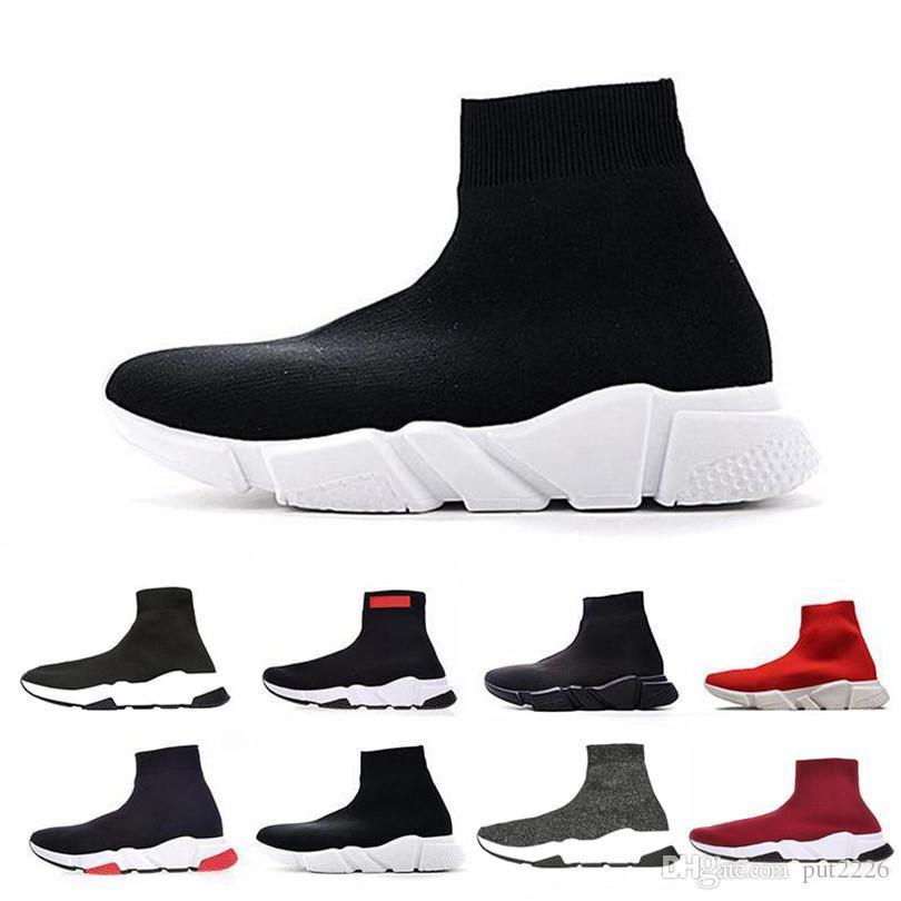 ACE Brand Designer casual sock Shoes Speed Trainer Black Red Triple Black Fashion Socks Sneaker Trainer Luxury casual shoes men women 36-45