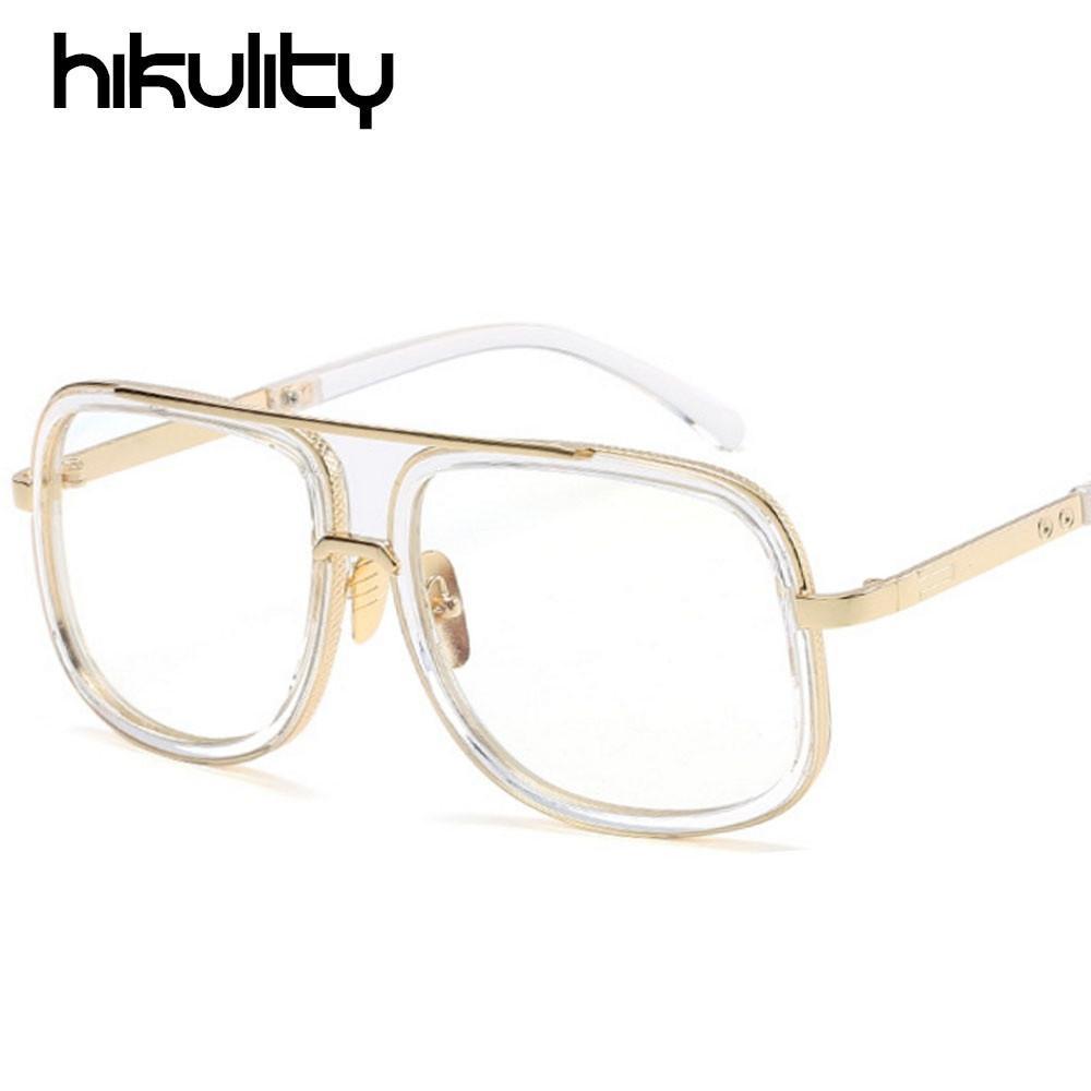 b2e1382b59 Clear Lens Glasses Frame Square Sunglasses For Women Transparent Shades Men  Driving Sun Glasses Couple Eyewear Lunette Femme Glasses Frames Glasses  Online ...