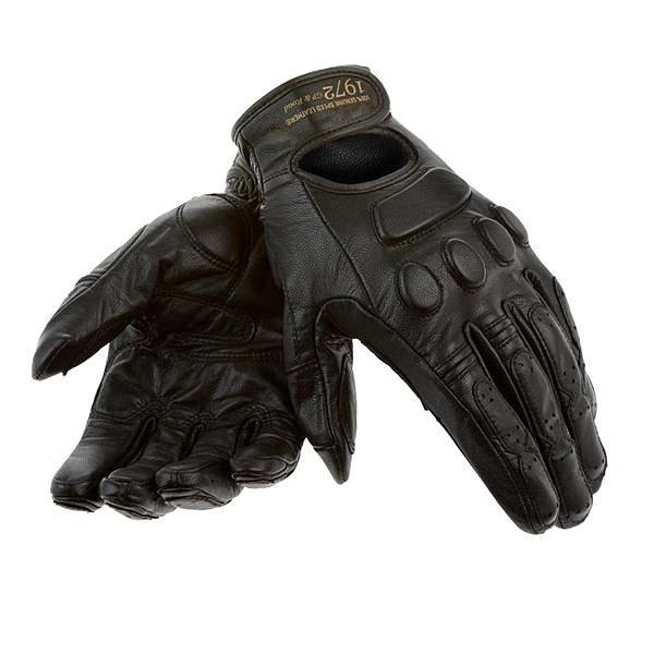 Urban Retro Leather Gloves Street Motorcycle Dirt Bike Riding Race Black Gloves