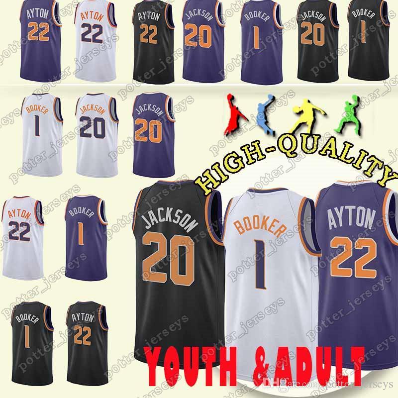 79436546fe4 ... usa cheap sales phoenix 1 devin booker jersey sun 22 deandre ayton 20  josh jackson jerseys