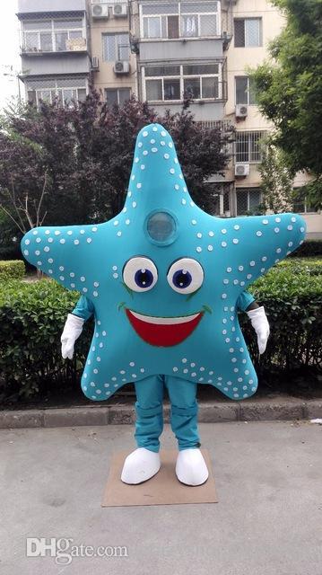 Vestito Da Stella Di Natale.Halloween Starfish Mascot Costume Di Alta Qualita Del Fumetto Stella Di Mare Anime Tema Personaggio Natale Carnevale Party Fancy Costumes