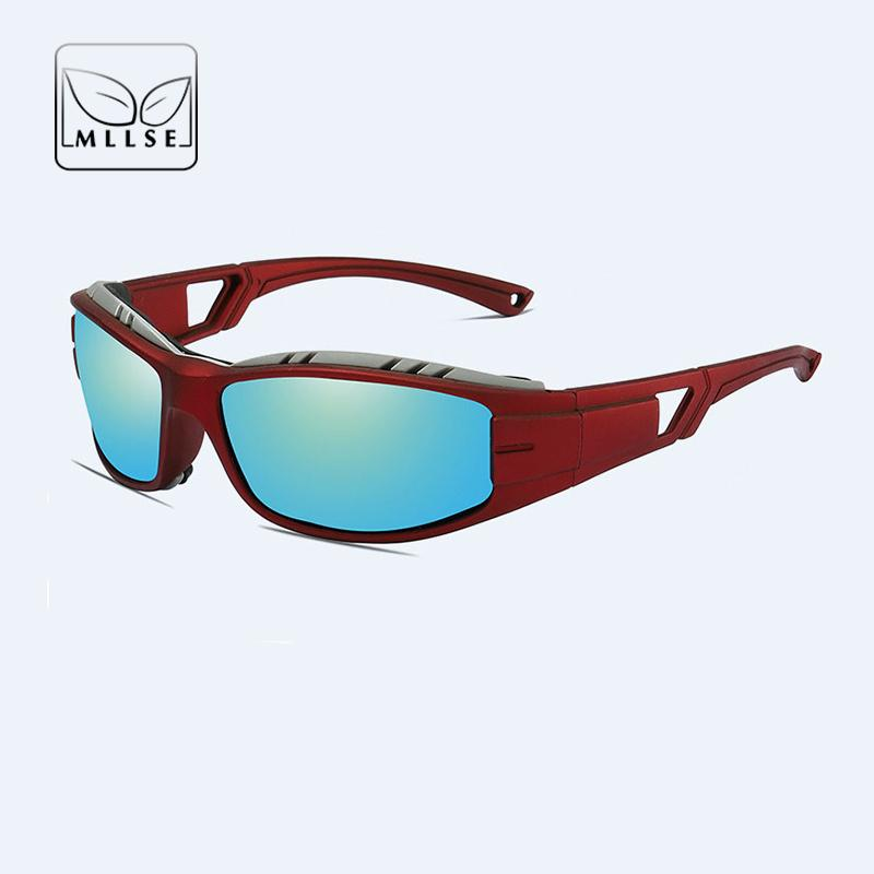 Compre MLLSE Marca Goggle Gafas De Sol Deportivas Hombres Mujeres  Recreación Al Aire Libre Gafas De Sol Moda UV400 Polarizado Unisex Deportes  Desgaste De ... 0ca9f2215d3a