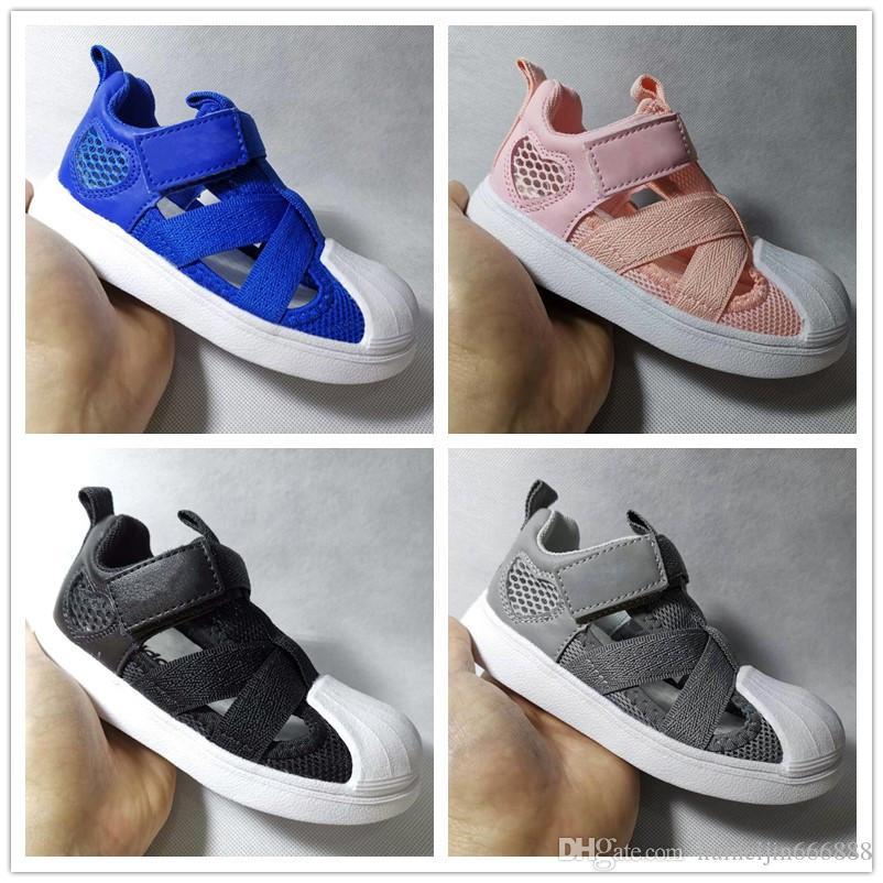 ac0f1352f Compre Adidas Para Niños Zapatillas Superstar Zapatos De Diseñador Para  Niños Transpirable Infantil Niños Niñas Sandalias De Playa Zapatos Para  Niños ...