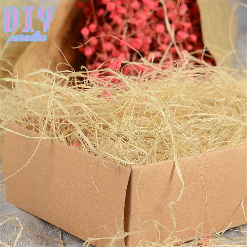 500 gr / beutel Bunte Handwerk Geschreddert Crinkle Papier Bast Pralinenschachtel / Geschenkbox Füllmaterial Seidenpapier Füllstoff Party Dekoration
