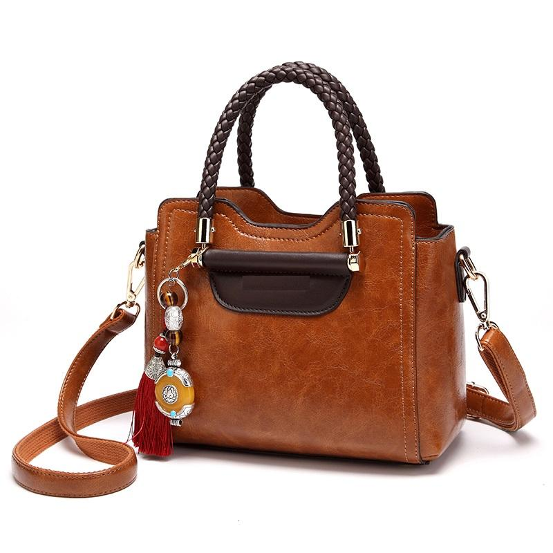 4740bbbdf8c Natural Cowhide Leather Handbags Fashion Women Boston Genuine Leather  Vintage Shoulder Messenger Bags Female Laptop Tote New T54 Hand Bags  Shoulder Bags ...