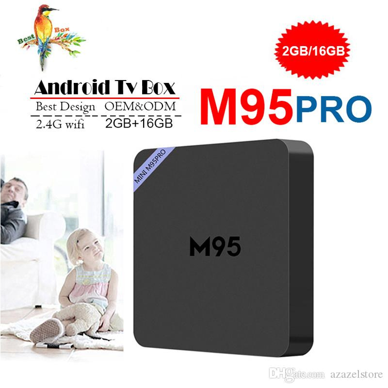 M95 PRO Allwinner H3 Quad core 1GB 8GB 2GB 16GB Android Smart TV Box HDMI2.0 4Kx2K HD 2.4G Wifi Streaming Media Players PK S905W S905X2