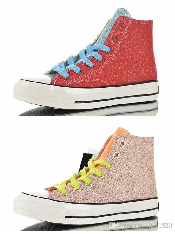 b966c9bce819b Acheter Converse X J.W.Anderson Converses Shoes CHUCK Années 70 2.0 HI  Glitter Tous Décontracté Chaussures De Toile Des Années 1970 Hommes  Formateurs Sports ...