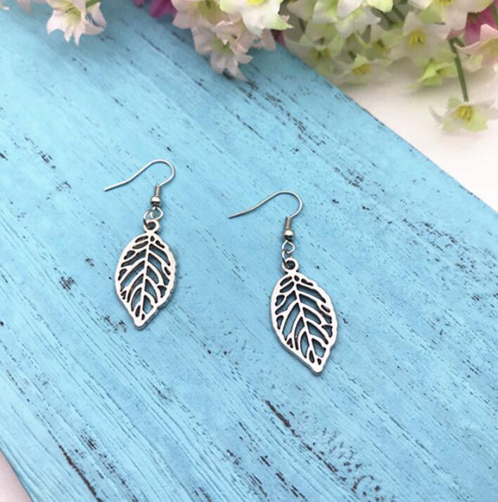 17a4bfef73 Leaves Glove Earrings Skeleton Leaf Earrings Antique Silver Women Earrings  Eardrop Ear Cuffs Accessories Ethnic Fashion Jewelry Gift