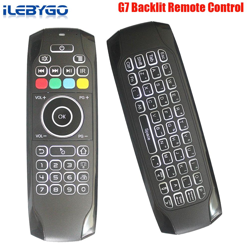 2.4G Wireless Air Mouse Keyboard 6-Axis Backlight Controller with Voice Remote
