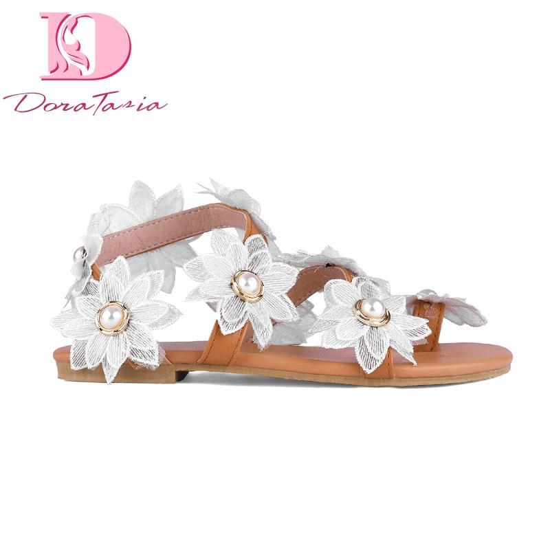 Blancas Mujer Zapatos Vacaciones Venta Flores Ocio Hohemia Playa Caliente Luz Sandalias De Doratasia Moda Gladiador sChQdtrx