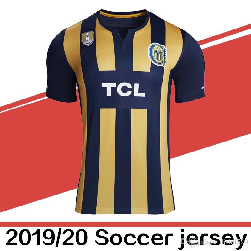 2019 2020 Argentina Futbol Club Rosario Central Home Soccer Jerseys ... e286b2c39