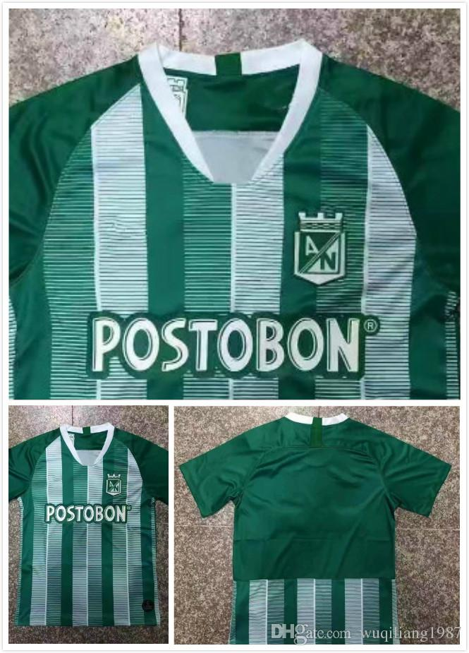 2019 19 20 Argentina Atletico Nacional Medellin Soccer Jersey Colombia Club Medellin  Home Green Football Tops Short Sleeve Sports Football Shirt From ... ec7ac6673